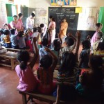 School Kit Distribution  to Government Primary School at Maluvalli on 27th June 2015